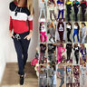 Women 2Pcs Printed Tracksuit Sweatshirt Pullover Trousers Casual Activewear Sets