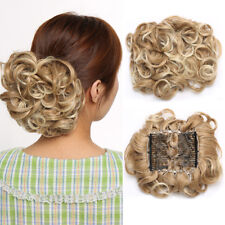 LARGE Comb Clip In Curly Hair Piece Chignon Updo Wedding Hair Extension Bun KH6