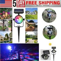 Colorful Waterproof Solar Power LED Laser Light Projector Lamp Outdoor Decorate