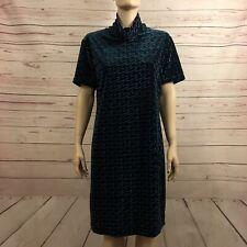 Apart Impressions Womens Vintage Size 12 Velvet Dress Green Midi