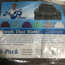 My Pillow 6 Pack Towels, Mineral Gray 2 Bath Towels, 2 Hand Towels, 2 Washcloths