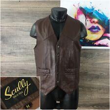 Scully Men's Genuine Leather Vest Western Cowboy Size M Medium
