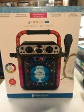 New listing Singing Machine Groove Hype Bluetooth Karaoke System Lights Microphone Dmgd Box