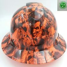 FULL BRIM Hard Hat custom hydro dipped , NEW SINISTER JOKER  ORANGE  HOT NEW