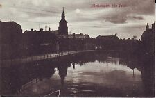 Sweden Stockholm Falun - Evening View old unused real photo postcard