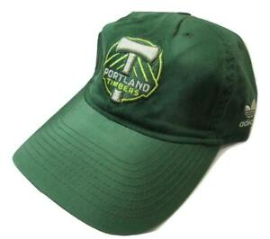 New MLS Portland Timbers Mens Size OSFA Adjustable Adidas Green Hat