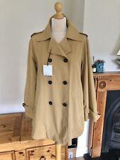 Zara Camel Double Breasted Trench Coat Jacket M UK12 Bnwt # G38