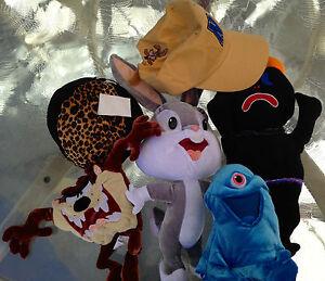 Stuffed animals lot plus hat. Nesquik. Bugs Bunny. Taz. Monsters v. Aliens