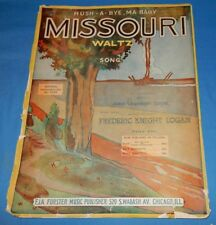 Large Vintage 1914 Sheet Music Missouri Waltz John Valentine Eppel Piano Voice