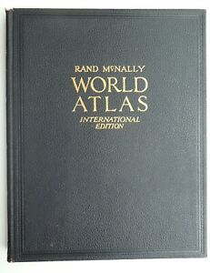 Rand McNally World Atlas International Edition, 1937, 11X14 inches, very good