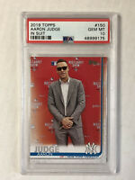 AARON JUDGE 2019 Topps Series 1 PHOTO VARIATION SP! PSA GEM MINT 10! #150! RARE!