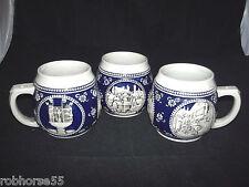 Wekara 3-1/4L Mug Stein # 5377 Nurberg Germany Stoneware Relief Scenes Beer Ec