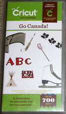 CRICUT *GO CANADA!* ART CARTRIDGE *NEW SEALED* FONT PHRASES FRENCH *700 IMAGES*