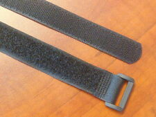 10 Hook and Loop Reusable Cable Ties Down Straps Black 13 inch H80-13