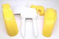 New Yellow and White Plastic Body Kit 96-98 RM125 RM250 Suzuki Polisport #V62