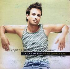 Eurovision CYPRUS 2005 CONSTANTINOS  Ela Ela (Come Baby) - PROMO CD single