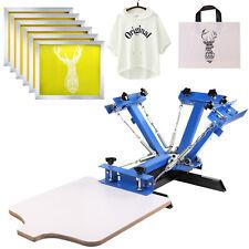 4 Color 1 Station Silk Screen Printing Machine 6 Pcs 230 Mesh Ink Curing Diy