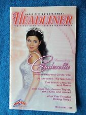 Cinderella - Radio City Music Hall Theatre Playbill w/Ticket - May 10th, 2001