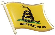 "New Rothco 1676 ""Don't Tread on Me"" Gadsden Flag Mini Lapel Pin - 1/2"" X 1/2"""