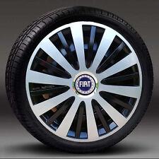 """Conjunto de 4 adornos de rueda 15"""" Tapacubos, cubre para caber Fiat Punto, Stilo, Doblo, Multipla"""