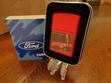 FORD MUSTANG RED ZIPPO LIGHTER MINT IN BOX 2005