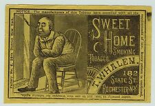 xRARE Advertising Trade Card / Paper Label? - Sweet Home Tobacco Rochester 1880