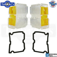 1971 71 Chevelle Parking Turn Light Lamp Lens w/Gaskets Pair New