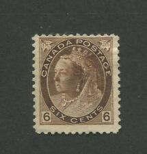 1898 Canada 6 Cent Brown Stamp Scott #80 Queen Victoria CV $200