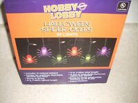 35CT MULTI COLOR SPIDER ICICLE STRING LIGHTS 6 FT HALLOWEEN  4082