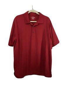 Men's Grand Slam XL Red Polo Airflow Performance Golf Short Sleeve Shirt