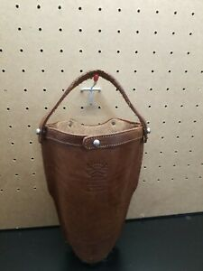 Col. Littleton No. 30 Traveler Tumbler Sleeve Real Leather *Initialed*