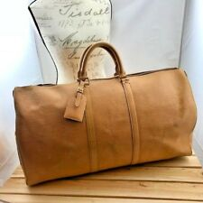 Louis Vuitton Keepall 55 Duffle Bag Tan Epi Leather
