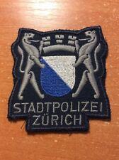 VINTAGE POLICE PATCHSWISS SWITZERLAND  - CANTON ZURICH - ORIGINAL!