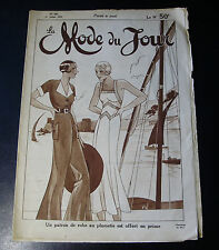 1932 LA MODE DU JOUR ~ PARIS FASHION & SEWING PATTERN Magazine
