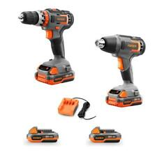 20V-Bundle - cordless impact drill/driver and heat gun - incl. batteries/charger