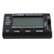 RC 7 Function Digital Voltmeter Battery Tester For LiPo LiFe Li-ion Nicd NiMH KI