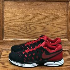 Nike Lunar Finger Strap Black Gym Red Shoes Size Men 11.5
