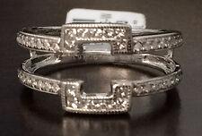 Princess Cut Diamonds 0.38ct Ring Guard Wrap 14k White Gold Solitaire Enhancer