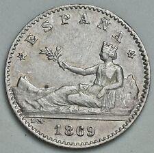 50 CÉNTIMOS 1869 (*6 - *9) / ESCASA ASÍ / EXCELENTE CONSERVACIÓN