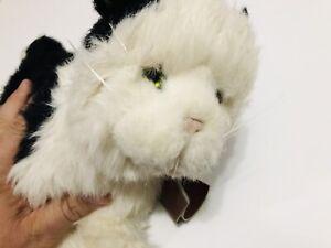 Applause Avanti 11173 Black & White Standing Kitten Cat Plush NWT
