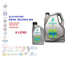 OLIO MOTORE AUTO DIESEL SELENIA WR 5W40 6 LT ACEA A3/B4 API SM/CF SYNT