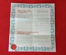 ROLEX 79178 President Datejust Warranty Certificate Guarantee 2001