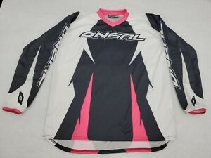 O'Neal Element Womens Off-Road MX Motocross Jersey Black & Pink Girls Medium / M