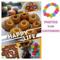 12Pcs Silicone Pumpkin Mini Cake Mould Bundt Cupcake Mold Round Baking Pan Tools