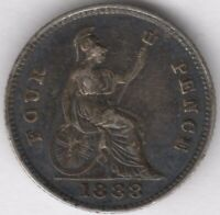1888 Victoria Silver Fourpence Groat | British Coins | Pennies2Pounds