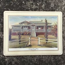 """AUSTRALIAN COUNTRY HOMES """"Ivory"""" Beautiful Scenic Decorative Placemat Mat"""