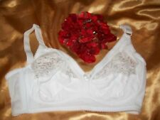TU white non-wired lace inset cotton blend full cup bra with side support 36DD