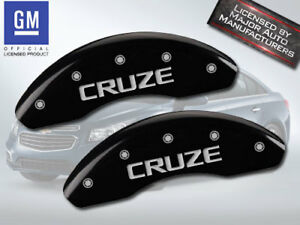 """2016 Chevy """"Cruze"""" Limited Front Black MGP Brake Disc Caliper Covers 2p Set"""