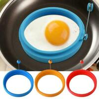 1X Silicone Round Egg Rings Pancake Mold Ring Nonstick Frying Fried T6J9