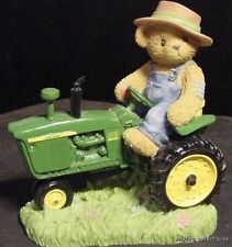 Cherished Teddies Chuck John Deere Teddy Bear Tractor 4010 diesel 2000 friend